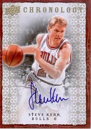 2007-08 Chronology Autographs Gold Steve Kerr /10