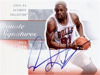 2003-04 Ultimate Collection Signatures RO Dennis Rodman