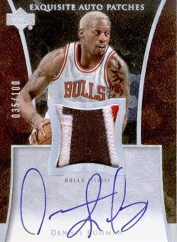 2004-05 Exquisite Collection Patches Autographs RO Dennis Rodman/100