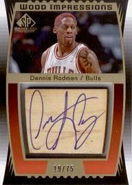 2004-05 SP Game Used Wood Impressions Dennis Rodman /75