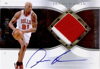 2006-07 Exquisite Collection Autographs Patches APDR Dennis Rodman