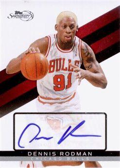 2008-09 Topps Signature Autographs TSADRD Dennis Rodman/1299
