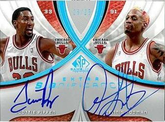 2005-06 SP Game Used SIGnificance Dual Scottie Pippen / Dennis Rodman /25