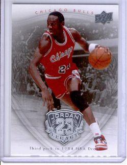 2009-10 Upper Deck Michael Jordan Legacy Collection #3 Michael Jordan/Third pick in 1984 NBA Draft