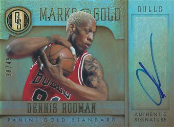 2012-13 Panini Gold Standard Marks of Gold Autographs #37 Dennis Rodman /49