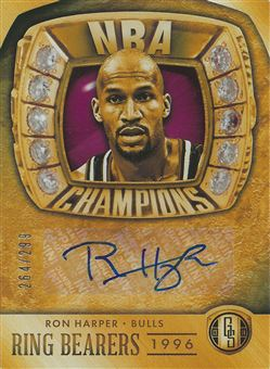 2013-14 Panini Gold Standard Ring Bearers Autographs #20 Ron Harper /299