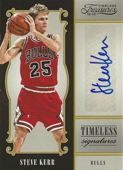 2012-13 Timeless Treasures Timeless Signatures #14 Steve Kerr /49