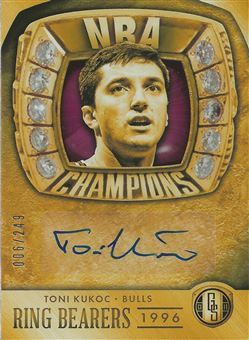 2013-14 Panini Gold Standard Ring Bearers Autographs #8 Toni Kukoc /249
