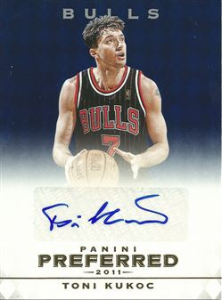 2011-12 Panini Preferred Blue #95 Toni Kukoc PS /25 AU