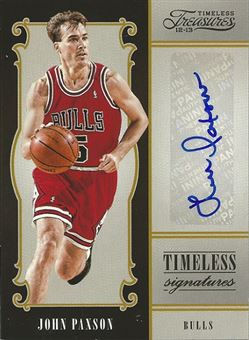 2012-13 Timeless Treasures Timeless Signatures #31 John Paxson /199