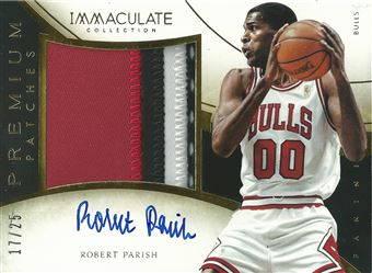 2013-14 Immaculate Collection Premium Autograph Patches #89 Robert Parish