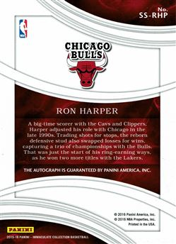 2015-16 Immaculate Collection Shadowbox Signatures #82 Ron Harper
