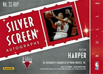 2015-16 Panini Gala Silver Screen Autographs #38 Ron Harper