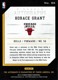 2013-14 Pinnacle Autographs #86 Horace Grant