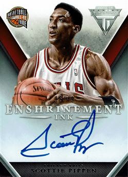 2013-14 Panini Titanium Enshrinement Ink #26 Scottie Pippen