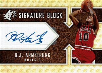 2008-09 SPx Signature Block #SBBA B.J. Armstrong