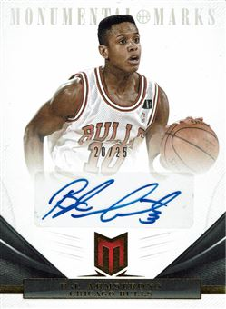 2012-13 Momentum Monumental Marks #164 B.J. Armstrong/25