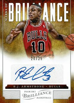 2012-13 Panini Brilliance Marks of Brilliance #109 B.J. Armstrong/25