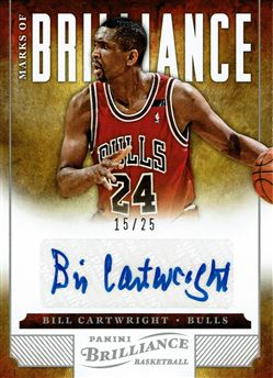 2012-13 Panini Brilliance Marks of Brilliance #114 Bill Cartwright/25