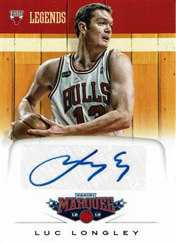 2012-13 Panini Marquee Legends Signatures #19 Luc Longley