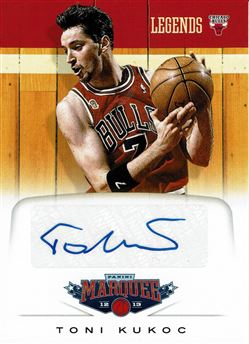 2012-13 Panini Marquee Legends Signatures #42 Toni Kukoc