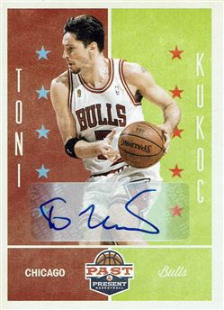 2012-13 Panini Past and Present Signatures #94 Toni Kukoc