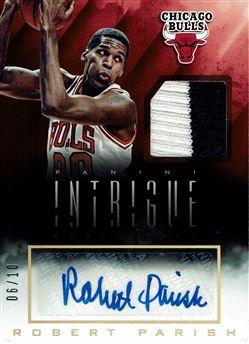 2013-14 Panini Intrigue Autograph Jerseys Prime #12 Robert Parish/10