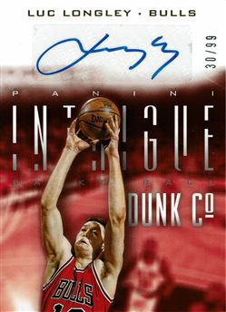 2013-14 Panini Intrigue Dunk Company Autographs #1 Luc Longley/99