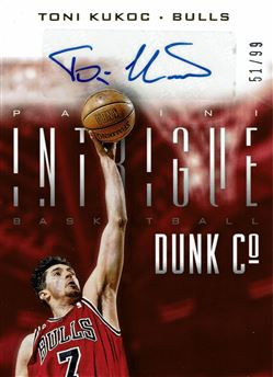2013-14 Panini Intrigue Dunk Company Autographs #28 Toni Kukoc/99
