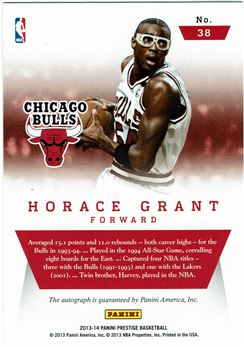 2013-14 Prestige Distinctive Ink #38 Horace Grant/99