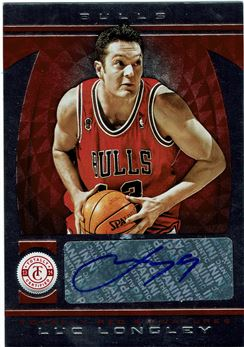 2013-14 Totally Certified Autographs Red #229 Luc Longley/99