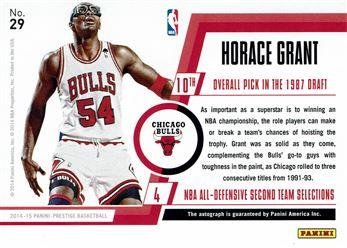 2014-15 Prestige Premium Bonus Shots Autographs Red #29 Horace Grant/99