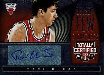 2014-15 Totally Certified Select Few Signatures #SFTK Toni Kukoc/49