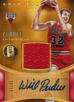 2015-16 Panini Gold Standard Gold Strike Jersey Autographs Prime #39 Will Perdue/25