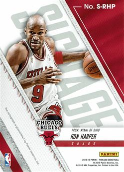 2015-16 Panini Threads Signage #35 Ron Harper/199