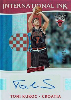 2016-17 Panini Aficionado International Ink #14 Toni Kukoc/199