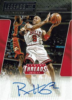 2016-17 Panini Threads NBA Legends Ink #24 Ron Harper/99