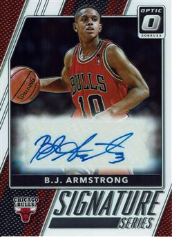 2017-18 Donruss Optic Signature Series #82 B.J. Armstrong