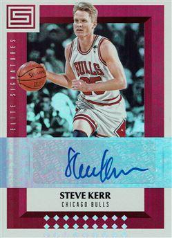 2017-18 Panini Status Elite Signatures #24 Steve Kerr