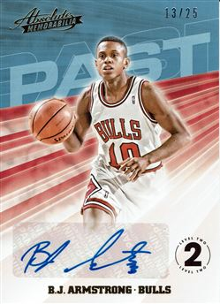 2018-19 Absolute Memorabilia Past Autographs Level 2 #13 B.J. Armstrong