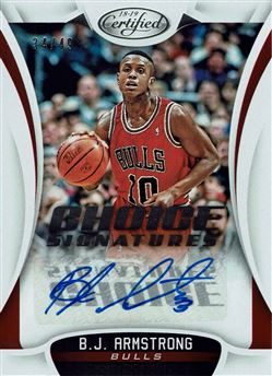 2018-19 Certified Choice Signatures #33 B.J. Armstrong/49