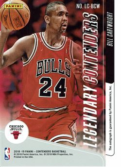 2018-19 Panini Contenders Legendary Contenders Autographs #13 Bill Cartwright/199