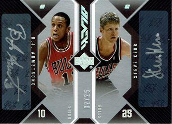 2006-07 UD Black Autographs Dual #KA B.J. Armstrong/Steve Kerr