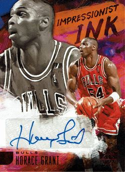 2018-19 Court Kings Impressionist Ink Autographs Ruby #18 Horace Grant