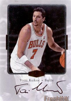 1999-00 Flair Showcase Fresh Ink 13 Toni Kukoc