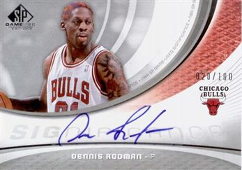 2005-06 SP Game Used SIGnificance Dennis Rodman /100