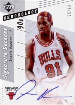 2006-07 Chronology Signature Decades DRO Dennis Rodman/90