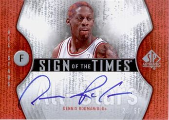 2006-07 SP Authentic Sign of the Times All-Stars #RO Dennis Rodman /50
