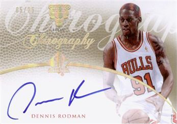 2007-08 SP Authentic Chirography Gold CRDR Dennis Rodman /25