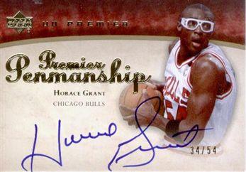 2007-08 Upper Deck Premier Penmanship Autographs Gold Horace Grant /54